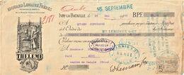 Rare Chèque De 1906 Avec Pub Liqueur Theleme Et Timbre Taxe - Cheques & Traveler's Cheques