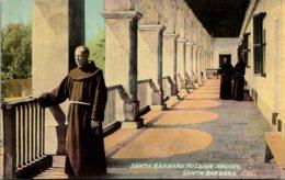 California Mission Santa Barbara Arches - Santa Barbara