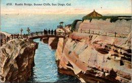 California San Diego Sunset Cliffs Rustic Bridge 1917 - San Diego