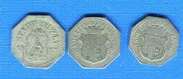 ALL  3  JETONS - Monetari/ Di Necessità