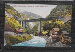 AK 0532  Gotthardbahn - Brücke Bei Amsteg Mit Windgelle Um 1910-20 - Ponts