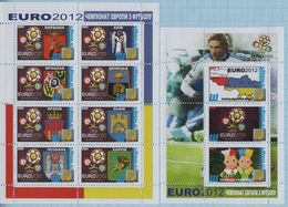 UKRAINE / Private Issue / Vignettes / POLAND. Football Soccer. UEFA. EURO 2012. Symbolism . Coats Of Arms Of Cities 2010 - Fußball-Europameisterschaft (UEFA)