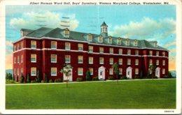 Maryland Westminster Albert Norman Ward Hall Boys' Dormitory Western Maryland College 1947 Curteich - Etats-Unis