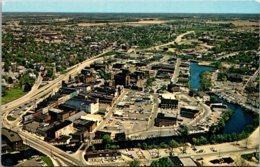 Maryland Salisbury Greetings Aerial View Looking Northeast Showing Business District & Wicomico River - Etats-Unis