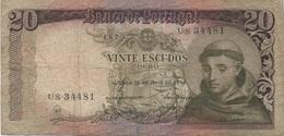 Portugal : 20 Escudos 1964 Très Mauvais état - Portugal