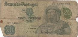 Portugal : 20 Escudos 1971 Très Très Mauvais état - Portugal
