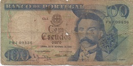 Portugal : 100 Escudos 1965 Très Mauvais état (1 Trou) - Portugal