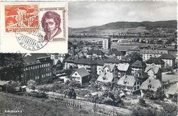 Schlieren -  Dorfansicht  (Mischfrankatur)          1955 - ZH Zurich