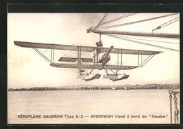 AK Wasserflugzeug Vom Typ Caudron G-3 Wird An Bord Der Foudre Geholt - Unclassified