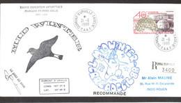 B1 - TAAF -  PA102 Du 21.6.1988 DUMONT D' URVILLE Terre Adélie MIDWINTER XXXVIII EXPEDITION Signé Chef De Base. - Cartas