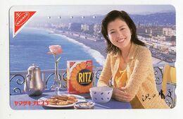 TELECARTE JAPON  RITZ GATEAU NABISCO Ville De NICE Promenade Des Anglais - Food