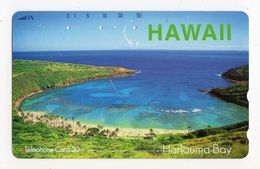 JAPON TELECARTE HAWAII Palmier HANAUMA BAY état Moyen - Hawaï
