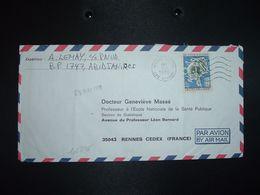 LETTRE Par AVION Pour La FRANCE TP CENTENAIRE DE L'UPU 40F OBL.MEC.2-5 1975 ABIDJAN PLATEAU - Costa D'Avorio (1960-...)
