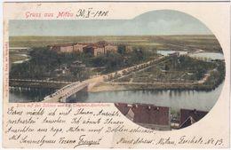 Latvia Germany 1900 Jelgava Mitau Mitava, Gruss Aus Mitau - Letonia