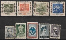 1957 Cuba Retiro De Comunicaciones-personajes-club Filatelico 9v - Gebraucht