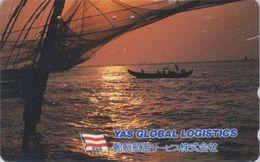 Télécarte JAPON / 110-016 - Culture Tradition - BATEAU & Coucher De Soleil - SHIP & Sunset JAPAN Phonecard - SCHIFF  456 - Schiffe