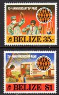 BELIZE - 1977 PAHO ANNIVERSARY SET (2V) FINE MNH ** SG 459-460 - Belize (1973-...)