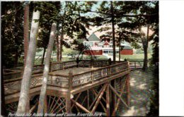 Maine Portland Riverton Park Rustic Bridge And Casino - Portland
