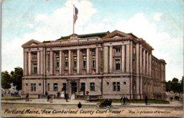 Maine Portland New Cumberland County Court House 1905 - Portland