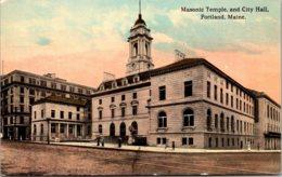 Maine Portland Masonic Temple And City Hall - Portland