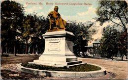 Maine Portland Henry Wadsworth Longfellow Statue 1915 - Portland
