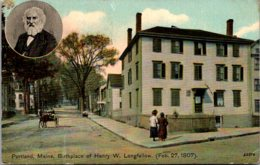 Maine Portland Birthplace Of Henry W Longfellow 1912 - Portland