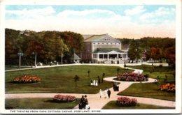 Maine Portland The Theatre From Cape Cottage Casino Curteich - Portland