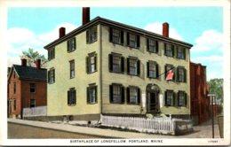 Maine Portland Birthplace Of Longfellow Curteich - Portland