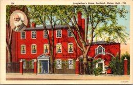 Maine Portland Longfellow's Home Curteich - Portland