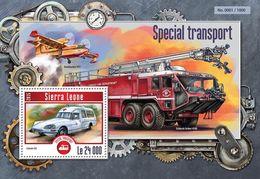 Sierra Leone 2015 Special Transport , Airplane ,car, Fire Engine - Sierra Leone (1961-...)