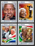 Sierra Leone 2017  Nelson Mandela,  Nobel Peace Prize, Pope John Paul II , World Cup - Sierra Leone (1961-...)