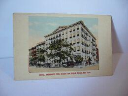 HOTEL BREVOORT AVENUE AND EIGHTH STREET NEW YORK CITY ETATS UNIS USA CPA VALENTINE SOUVENIR CO NY - New York City