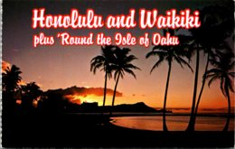 Hawaii Honolulu & Waikiki Diamond Head At Sunrise - Oahu