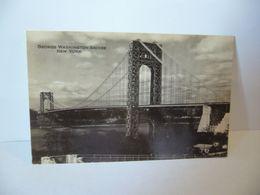 GEORGES WASHINGTON BRIDGE NEW YORK CITY ETATS UNIS USA CPA GENUINE PHOTOGRAPH ST CHICAGO ILL - Ponts & Tunnels