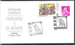 España - 1999 - Matasello Especial - Escenas De Don Quijote - Expo. Cervantes Y El Quijote - A1RR2 - 1991-00 Gebraucht