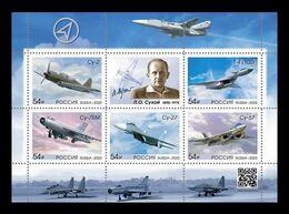 Russia 2020 Mih. 2890/94 (Bl.306) Aviation. Aircrafts Of Pavel Sukhoi MNH ** - 1992-.... Föderation