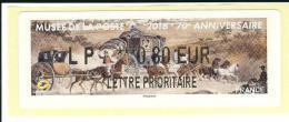 VIGNETTE LISA 2 - 2016 - MUSEE DE LA POSTE - 70e ANNIVERSAIRE - MENTION LP 0,80 EUR - NEUF - 2010-... Illustrated Franking Labels