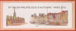 VIGNETTE LISA 1 - SALON PHILATELIQUE D'AUTOMNE - PARIS 2013  - MENTION 0,56 EUR - NEUF - 2010-... Illustrated Franking Labels