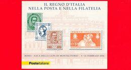 Nuovo - MNH - ITALIA - 2006  - Mostra Filatelica - Montecitorio - 0,60 € × 4 - Francobolli Del Regno D'Italia - BF - Blocchi & Foglietti
