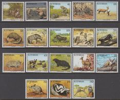 1992. BOTSWANA.  Complete Set Fauna With 18 Stamps. Never Hinged. (Michel 517-534) - JF364691 - Botswana (1966-...)