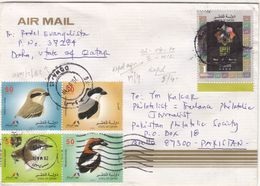 2010 QATAR TO PAKISTAN COVER WITH BIRDS AND AL QUIDS STAMPS FAUNNA - Autres