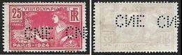 Perforé  CNE  - 1924 -  YT 184  -  VIIIe Olympiade - Perforés