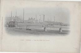 REIMS - VUE DU PORT DU CANAL - CARTE PRECURSEUR AVEC BELLE ANIMATION DE PENICHES - DEBUT 1900 - Reims