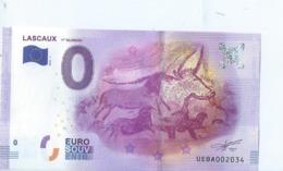 2016 BILLET TOURISTIQUE 0 Euro  Lascaux  Dpt 24  Port 1.50     Numero Aleatoire - Private Proofs / Unofficial