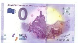 2017 BILLET TOURISTIQUE 0 Euros  74   Chamonix - Mont - Blanc    Port 1.50  Numero  Aleatoire - Private Proofs / Unofficial