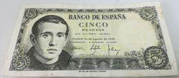 Billete 1951. 5 Pesetas. Jaime Balmes. Estado Español. General Francisco Franco. España. MBC - [ 3] 1936-1975 : Regency Of Franco