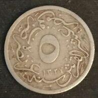 "RARE - EGYPTE - EGYPT - 5/10 QIRSH 1911 ( 1327 ) - Sans ""H"" - KM 304 - ( Muhammad V ) - Without ""H"" - ٣ - ١٣٢٧ - Egypte"