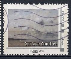 France - Frankreich Timbre Personnalisé 2008 Type ID19-01 (o) -  Monde 20g - œuvre De G Courbet - France