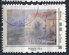 France - Frankreich Timbre Personnalisé 2008 Type ID19-02 (o) -  Monde 20g - œuvre De C Monnet - France