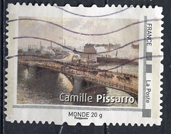 France - Frankreich Timbre Personnalisé 2008 Type ID19-04 (o) -  Monde 20g - œuvre De C Pissarro - France